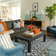 Contemporary Living Room by Summer Thornton Design, Inc