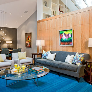 Large contemporary living room in Minneapolis.