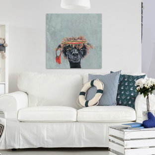 """""""Hippie Llama"""" Painting Print on Wrapped Canvas"""