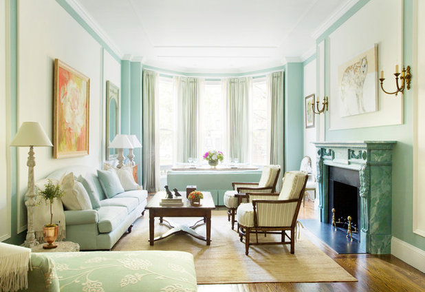 Traditional Living Room by Catherine & McClure Interiors