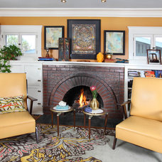 Eclectic Living Room by Sarah Barnard Design