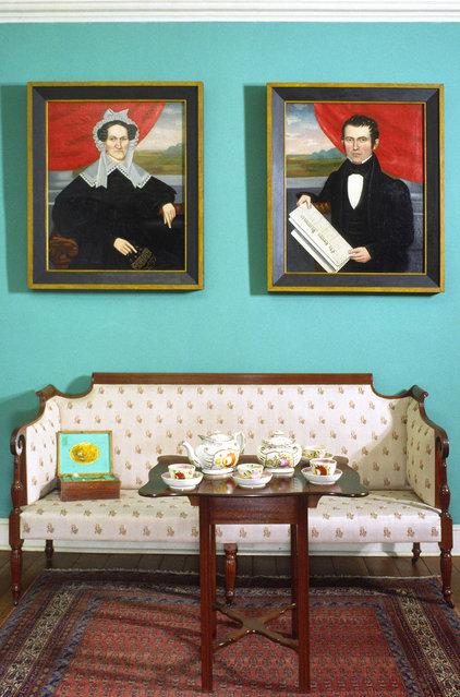 Traditional Living Room Historic Deerfield