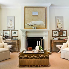 Traditional Living Room by A. Gaal & Associates