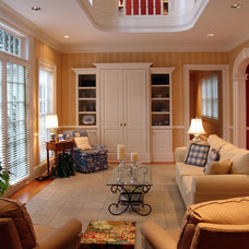 Traditional Living Room by Rowland Design