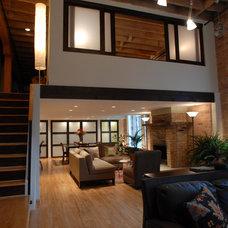 Craftsman Living Room by April Uhlir