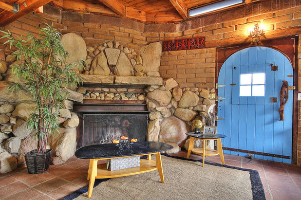 Rustic Living Room by Julie Angelos, Realtor at Berkshire Hathaway