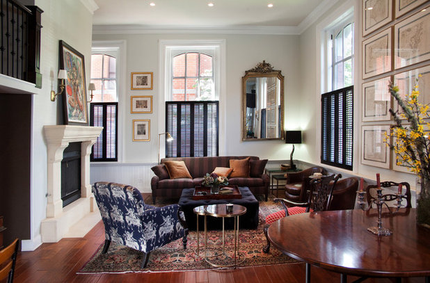 Traditional Living Room by Lisa Wolfe Design, Ltd