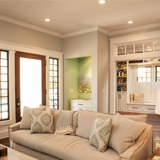 Craftsman Living Room by Renewal Design-Build