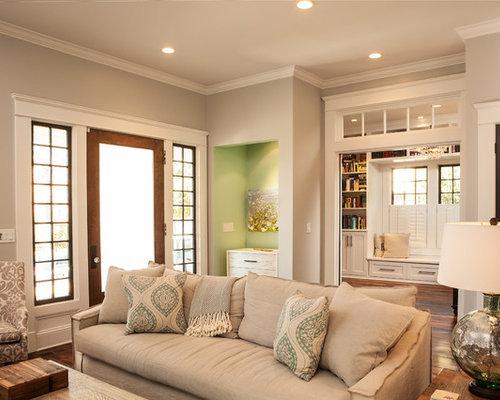 living room closet design. Elegant enclosed living room photo in Atlanta with gray walls Living Room Closet  Houzz