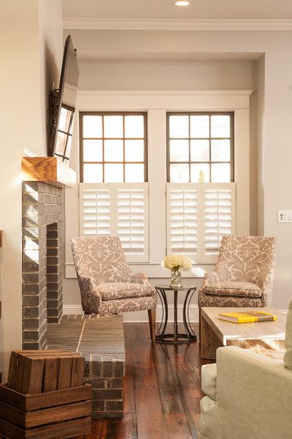 Craftsman Living Room by Renewal Design-Build