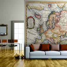 Contemporary Living Room by Wallpapered