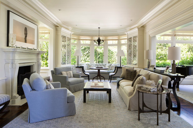 Traditional Living Room by Weaver Design Group