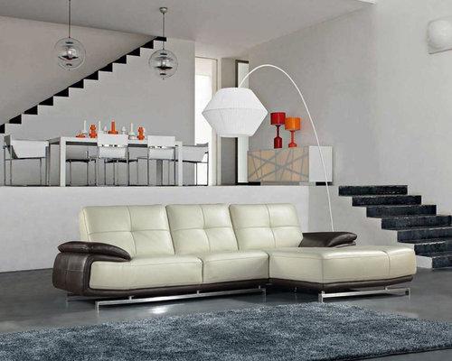 Click clack sofa black leather