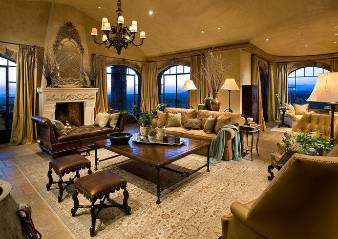 Mediterranean Living Room by Woven Concepts