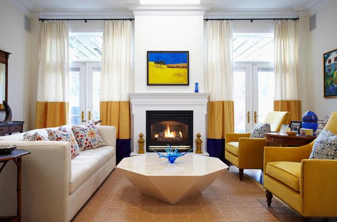 Contemporary Living Room by Heidi Kerney Designs