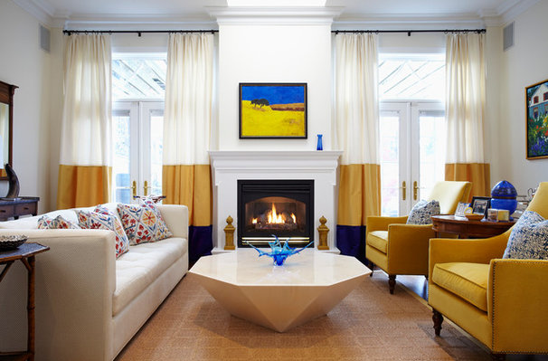 Contemporary Living Room by Heidi Kerney Designs