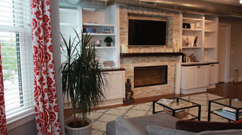 Hoboken Full Millwork Wall with Fireplace Niche