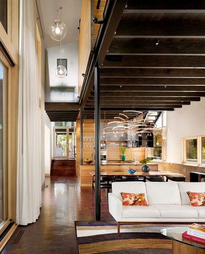 Contemporary Vardagsrum by Lake Flato Architects