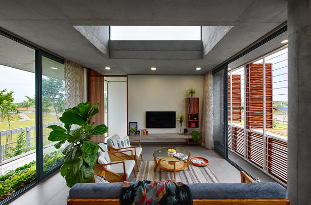 Contemporary Living Room by ma+rs