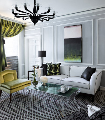 Contemporary Living Room by James Rixner, Inc.