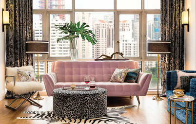 Room Tour: Open-Plan Living-Dining Room Goes Hollywood Glam