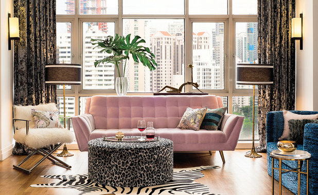 Fusion Living Room by DESIGN INTERVENTION