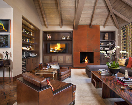 Bar fireplace home design ideas pictures remodel and decor for Basement bar san diego