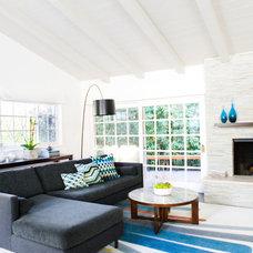Midcentury Living Room by Erinn V Design Group