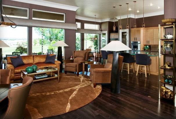 Contemporary Family Room by Peg Berens Interior Design LLC