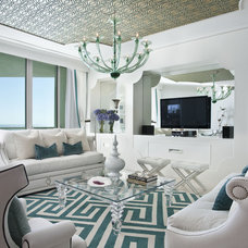 Eclectic Living Room by DKOR Interiors Inc.- Interior Designers Miami, FL