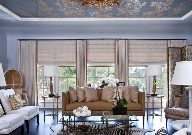 Transitional Living Room by Elizabeth Gordon