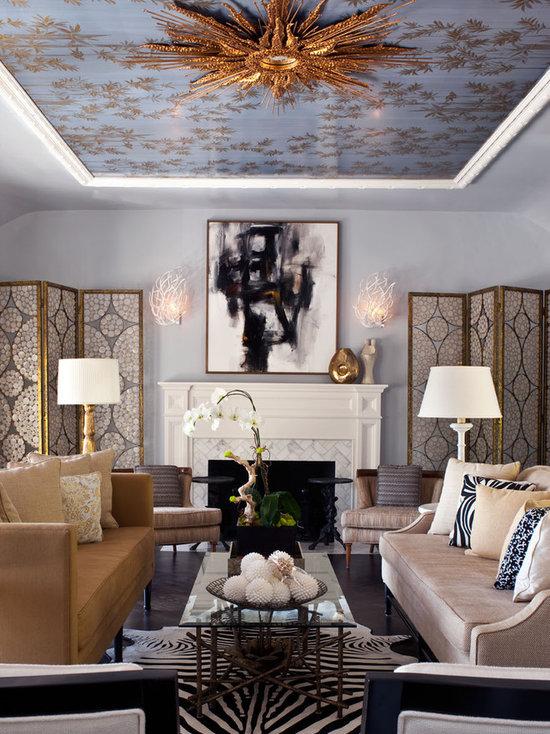 high ceiling living room | houzz