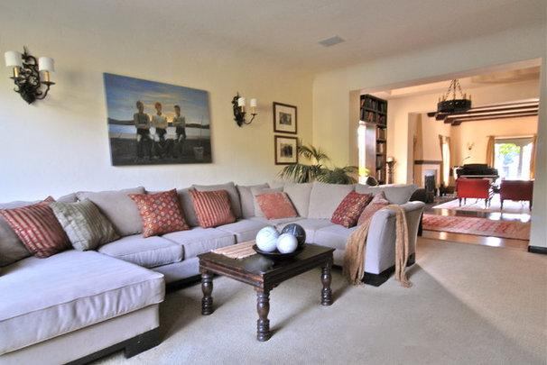 Mediterranean Living Room by Brenda Olde