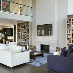 contemporary family room by YZDA | Yoshida + Zanon Design Atrium
