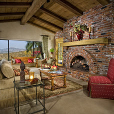 Rustic Living Room by Lori Hollis