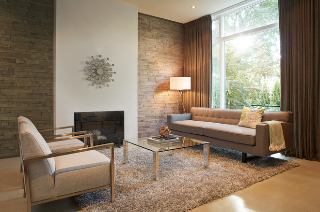 Midcentury Living Room by The Home Depot Canada