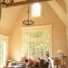 Traditional Living Room by Adams Architectural Woodworking