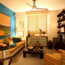 Tropical Living Room by Andrew Suvalsky Designs