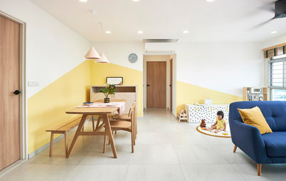 Houzz Tour: Family Focus Creates a Sunny Yellow Home