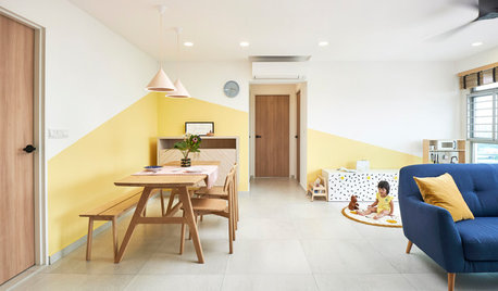 Houzz Tour: A Sunny Yellow Home for a Family of Three