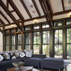 Contemporary Living Room by Wayne Windham Architect, P.A.