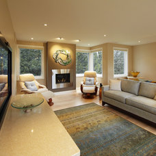 Traditional Living Room by Schnarr Craftsmen Inc