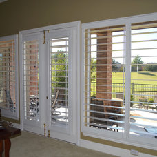 Traditional Living Room by Universal Window Coverings, LLC