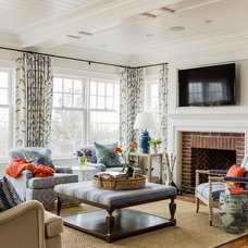 Beach Style Living Room by Katie Rosenfeld Design