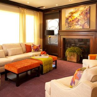 Immagine di un soggiorno contemporaneo