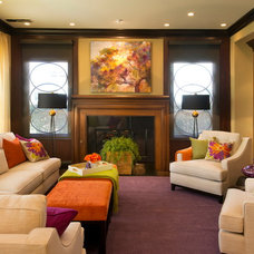 Contemporary Living Room by Robeson Design
