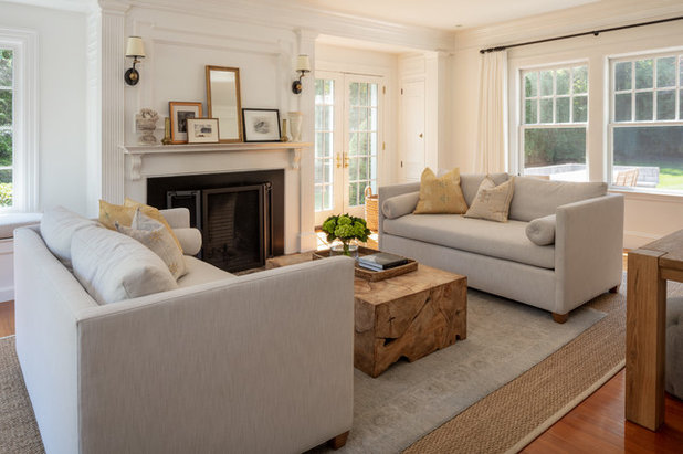 Farmhouse Living Room by kelly mcguill home