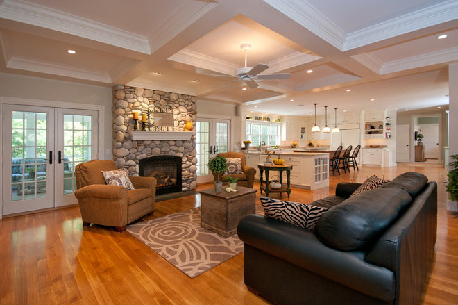 Traditional Living Room by Beth Goldfarb