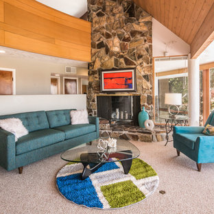 Genial 75 Most Popular Midcentury Modern Albuquerque Living Room ...