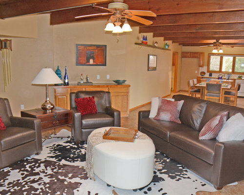 Houzz : Southwestern Living Room with a Home Bar Design Ideas u0026 Remodel Pictures
